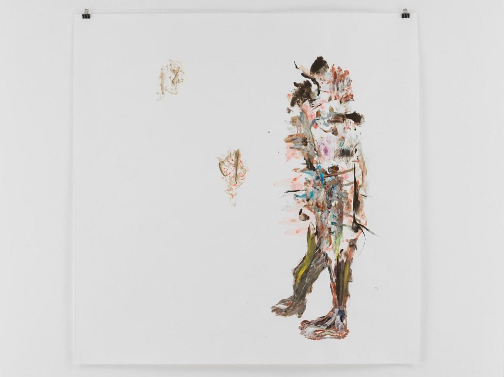 Der Eine In Dem Vielen Weiß, 2010, Mischtechnik auf Papier, 133,5 x 110 cm