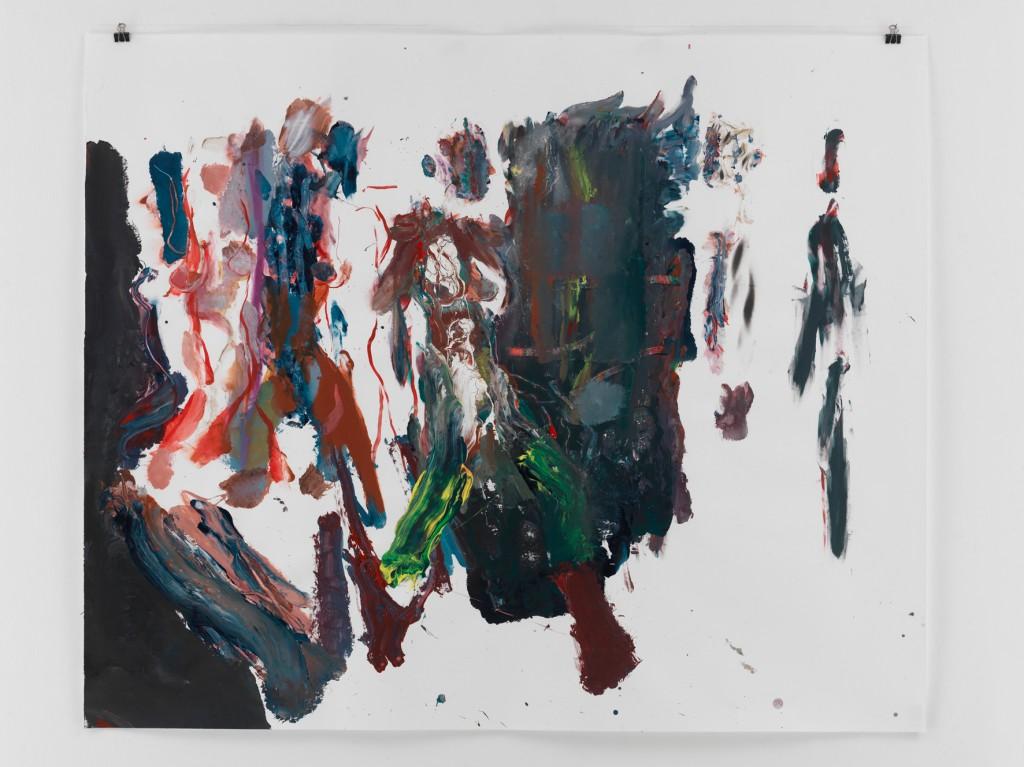 Dunkles Paar, 2010, Mischtechnik auf Papier, 133,5 x 110 cm