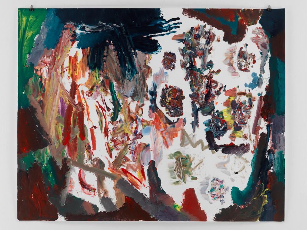 Gewitterbild , 2010, Mischtechnik auf Papier, 133,5 x 110 cm