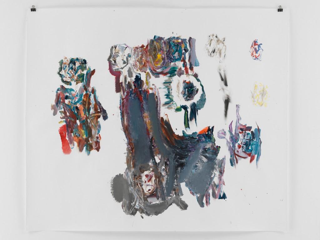 Grauer Turm, 2010, Mischtechnik auf Papier, 133,5 x 110 cm