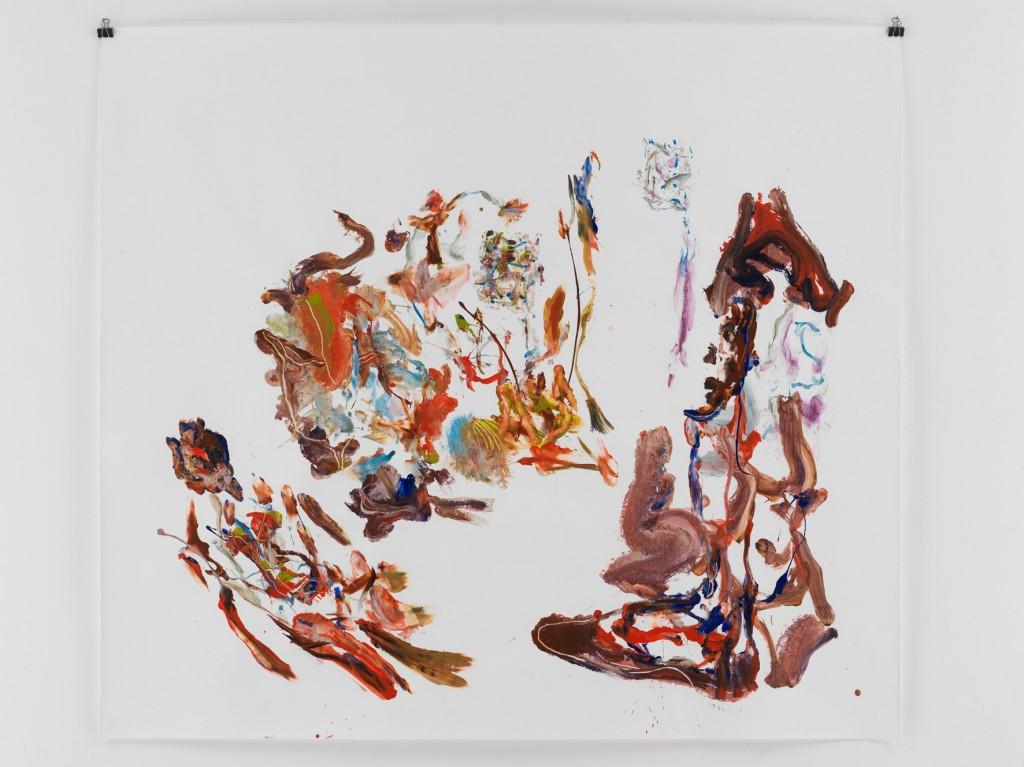 Hitzewelle , 2010, Mischtechnik auf Papier, 133,5 x 110 cm