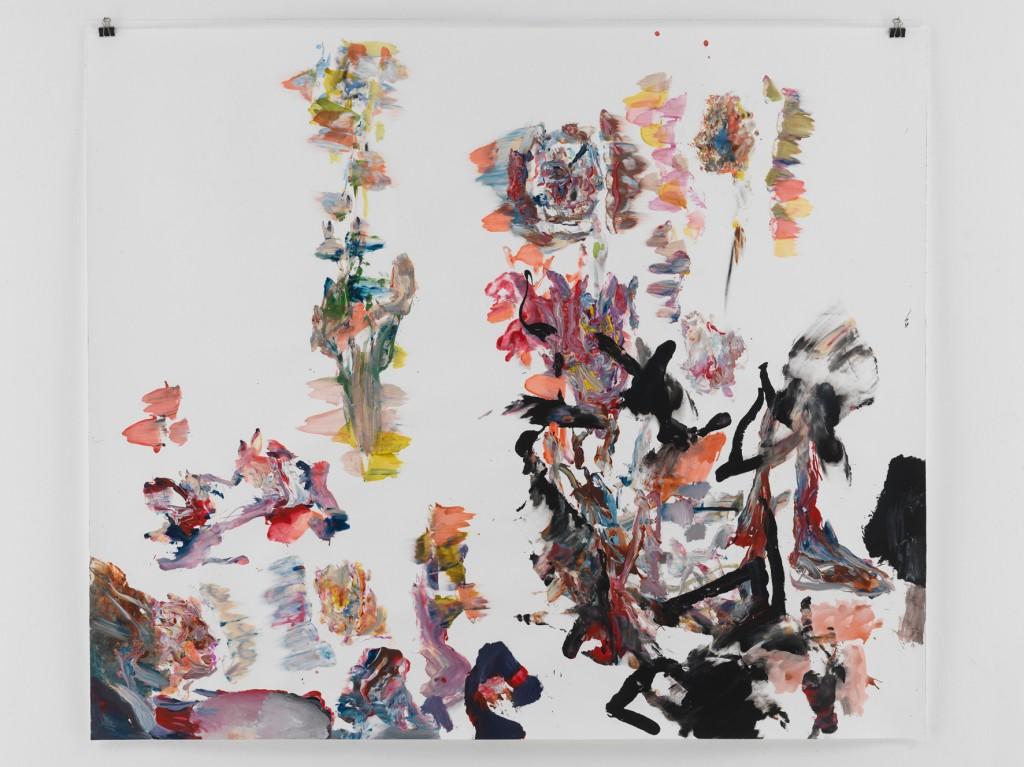 Mit Schwarz Und Raum , 2010, Mischtechnik auf Papier, 133,5 x 110 cm
